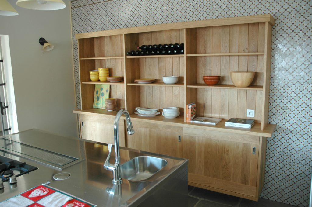 wandkast op maat in de keuken door meubelmaker Grimberen Meise
