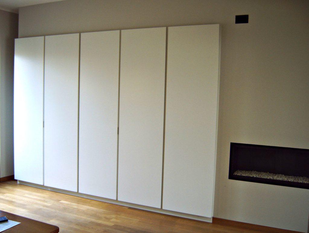 wandkast woonkamer gelakt meubelmaker Vlaams-Brabant